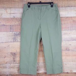 Style & Co. Cropped Capri Pants Womens size 12 Oli